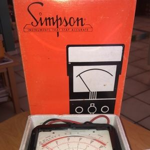 NEW - 260-8 & 260-8P Analog VOM–Simpson Electric